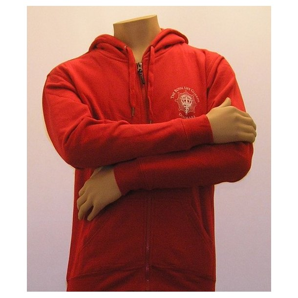 Sweatshirt med hætte, rød