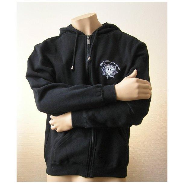 Sweatshirt med hætte, sort