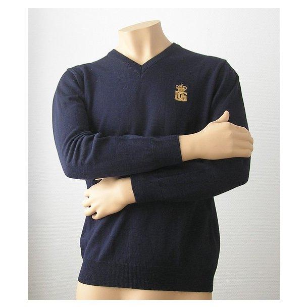Sweater, mørkeblå, DG