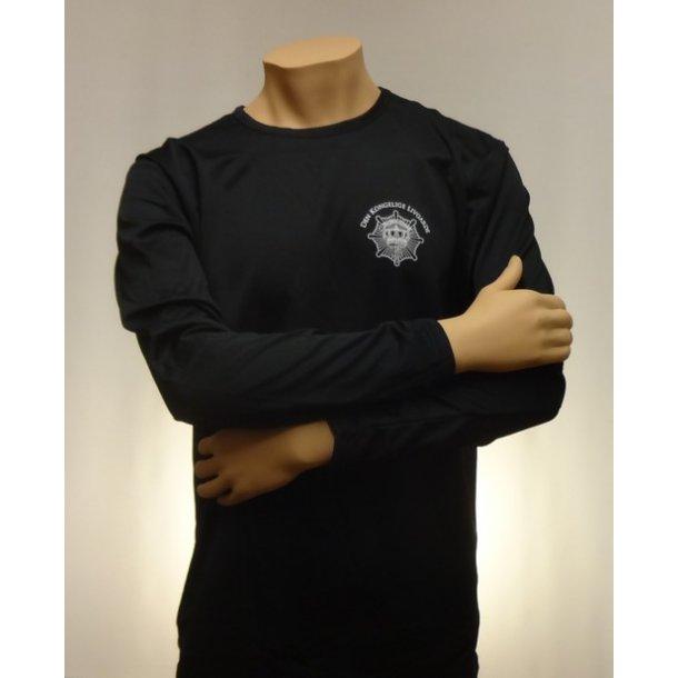 Løbe T-shirt, sort - lange ærmer